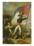 General Augereau on the Bridge at the Battle of Arcola on the 15th November 1796 Giclee Print by Charles Thevenin