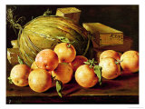 Still Life of Oranges, Melons and Boxes of Sweets Giclee Print by Luis Egidio Melendez