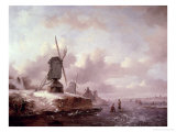 Winter Landscape Giclee Print by Frederik Marianus Kruseman