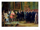 The Reception of the Ambassadors of the Thirteen Swiss Cantons by Louis XIV at the Louvre Giclee Print by Adam Frans van der Meulen