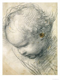 Head of a Cherub Reproduction procédé giclée par Raphael