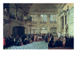 Philippe de Courcillon Marquis of Dangeau Pledging His Oath to King Louis XIV in 1695 Giclee Print by Antoine Pezey