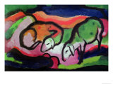 Sheep, 1912 Giclee Print by Franz Marc