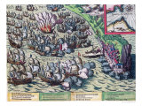 Fighting off the Coast of Gibraltar, Printed on 25th May 1607 Giclee Print by Franz Hogenberg
