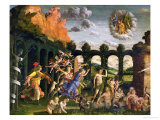 Minerva Chasing the Vices from the Garden of Virtue Giclee Print by Andrea Mantegna