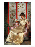 Lady Reading Giclee Print by Joseph Frederic Soulacroix