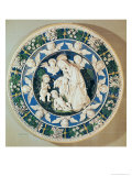 Adoration of the Virgin with St. John the Baptist and Two Cherubs Giclee Print by Andrea Della Robbia