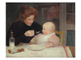 Weaning Giclee Print by Jules Ernest Renoux