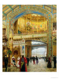 The Central Dome of the Universal Exhibition of 1889 Giclee Print by Louis Beroud