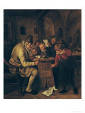 The School Master, 1626-79 Giclee Print by Jan Havicksz. Steen