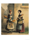 "The Baker's Art, Plate Number 27 from the ""Les Femmes de Paris"" Series, 1841-42 Giclee Print by Alfred Andre Geniole"