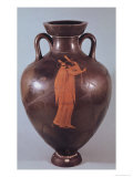 Attic Red Figure Amphora Depicting a Musician Playing a Lyre Giclee Print by Berlin Painter 