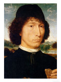 Portrait of a Man with a Coin, circa 1480 Giclee Print by Hans Memling