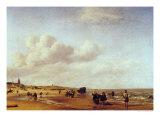 The Beach at Scheveningen Giclée-Druck von Adriaen van de Velde