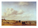 The Beach at Scheveningen Giclee Print by Adriaen van de Velde