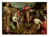 Sermon of St. John the Baptist Giclee Print by Frans I Pourbus