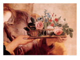 Our Lady of the Rosary, Detail of the Basket of Flowers Giclee Print by Gaspard de Crayer