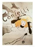 Confetti, 1893 Giclee Print by Henri de Toulouse-Lautrec