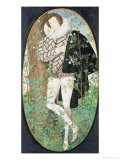 A Young Man Leaning Against a Tree Among Roses Giclee Print by Nicholas Hilliard