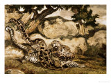 A Python Killing a Tiger Giclee Print by Antoine-Louis Barye