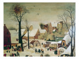 The Census at Bethlehem, Detail of the Houses and Fortifications Giclee Print by Pieter Brueghel the Younger