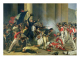 Scene of the 1830 Revolution at the Louvre Giclee Print by Jean Louis Bezard