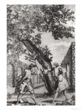 Argument Between Jean-Jacques Rousseau and Voltaire Giclee Print
