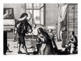 The Husband Who Beats His Wife Giclee Print by Abraham Bosse