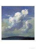 Cloud Study, 1832 Giclee Print by Johan Christian Clausen Dahl