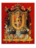 Coat of Arms of Italy, Design for a Tapestry, 1808 Giclee Print by Louis Saint-ange-desmaisons