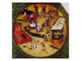 Tabletop of the Seven Deadly Sins and the Four Last Things, Detail of Hell, circa 1480 Giclee Print by Hieronymus Bosch