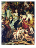 The Felicity of the Regency, 1621-25 Giclee Print by Peter Paul Rubens