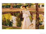 The Garden, 1913 Giclee Print by Joaqu&#237;n Sorolla y Bastida