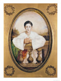 Portrait of Gaspard Deburau as Pierrot, circa 1815 Giclee Print by A. Trouve
