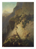 The Taking of Fort Fautuhua, Tahiti, 17th December 1846 Giclee Print by Charles Giraud