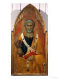 St. Peter, Panel from a Polyptych Painted for the Convent of San Francesco de Colle Val D'Elsa Giclee Print by Lippo Memmi