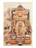 "Khusrau in Front of the Palace of Shirin, from ""Khusrau and Shirin"" by Elyas Nezami 1504 Giclee Print"