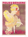 Poster Advertising Loie Fuller at the Folies Bergeres, 1897 Giclee Print by Jules Chéret
