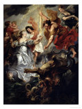 The Reconciliation of Marie de Medici and Her Son in 1621 Giclee Print by Peter Paul Rubens