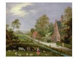 Village Landscape Giclee Print by Pieter Gysels