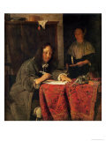 The Writer Giclee Print by Gabriel Metsu