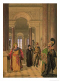 The Main Staircase of the Louvre, 1817 Giclee Print by Louis Eugene Gabriel Isabey