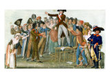 Motion in the Garden of the Palais-Royal, July 1789 Giclee Print by Le Sueur Brothers