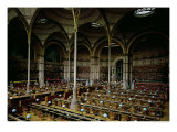 "Interior of the ""Salle des Imprimes"", 1868 Giclee Print by Henri Labrouste"