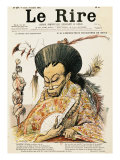 "Tz""U-Hsi Empress Dowager of China, Front Cover of ""Le Rire"", 14th July 1900 Giclee Print by Charles Leandre"