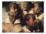 Studies of the Head of a Negro Giclee Print by Peter Paul Rubens