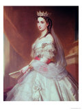 Portrait of Charlotte of Saxe-Cobourg-Gotha Princess of Belgium and Empress of Mexico Giclee Print by Alfred Graeffle