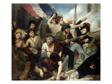 Scene of the 1830 Revolution Giclee Print by Philibert Rouviere