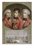 Portrait of the Three Consuls of the Republic and Barthelemy 2nd August 1802 Giclee Print by Jean Duplessi-Bertaux