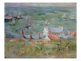 The Port of Gorey on Jersey, 1886 Giclee Print by Berthe Morisot